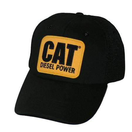 Caterpillar CAT Equipment Vintage Diesel Power Black Mesh Cap (Vintage Diesel Sonnenbrille)