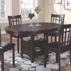 Coaster Company Lavon Dining Group In Light Chestnut And