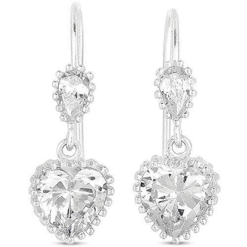 CZ Sterling Silver Drop Earrings