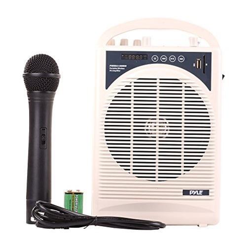 PylePro PWMA120BM Speaker System - 60 W RMS - Portable - Battery Rechargeable - Wireless Speaker[s]