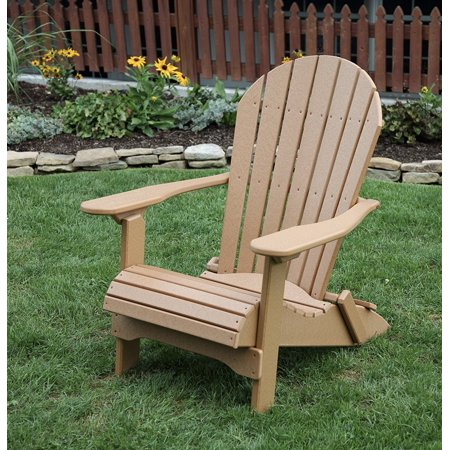 POLY LUMBER Rolled Seating Heavy Duty EVERLASTING Lifetime PolyTuf HDPE AMISH CRAFTED Folding Adirondack Chair ()