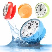 """Waterproof Clock Suction Cup Kitchen Bathroom Bath Shower Sucker Wall Decoration Dia 7cm/ 2.76"""" AAA Battery Powered (not included)"""