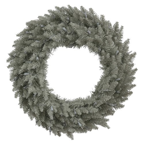 Millwood Pines Unlit Tinsel Red Fir Wreath