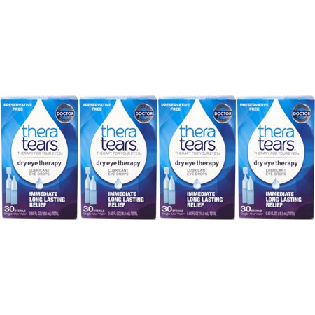 4 Pack - Thera Tears Lubricant Eye Drops, 32 Each