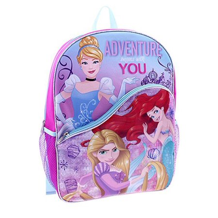 Disney - Princess 16 Girls Backpack Glitter School Travel Kids Small 3D  Book Bag - Walmart.com 42f36048c033c