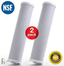 Premium Countertop Water Replacement Filter compatible to Ecosoft For Use In the Countertop Ecosoft Water Filters, Pack of 2 by CFS