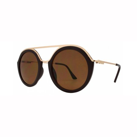 MLC EYEWEAR Classy Double Bridge Round Frame Sunglasses (Round Frames Eyewear India)