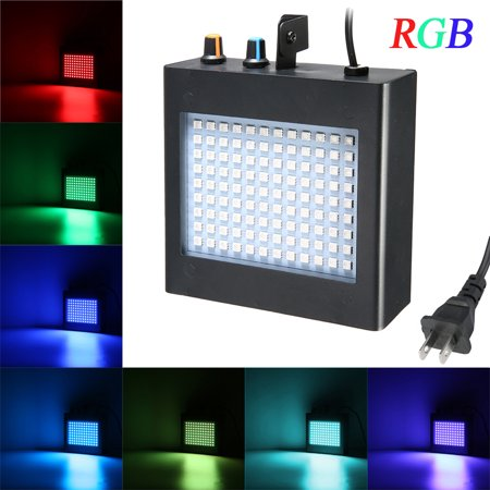 Disco Lights, 108 RGB LED Strobe Lights Auto Sound Activated DJ Party Lights Adjustable Flash Speed Control for Stage Lighting Wedding Show Club Pub Parties AC 90-240V 25W - Sound Activated Flower