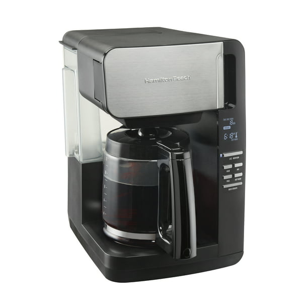 Hamilton Beach 12 Cup Programmable Coffee Maker, Front Fill Design, Removable Reservoir Coffee Machine, Model 46203