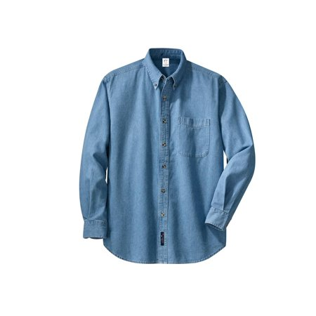 Gravity Threads Mens Long-Sleeve Denim (Denim Long Sleeve Sport Shirt)