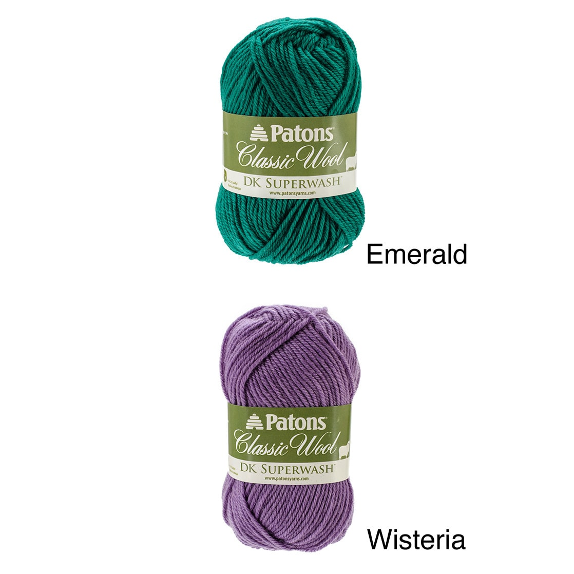 Patons Classic Wool DK SUPERWASH Yarn in Emerald New /& Smoke Free Home