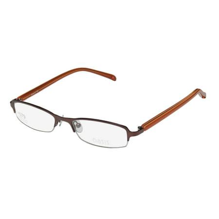 fe0ce2596a6 New Oasis Kentia Womens Ladies Designer Half-Rim Mauve   Orange Simple    Elegant Durable Classy Frame Demo Lenses 49-17-140 Eyeglasses Spectacles -  Walmart. ...