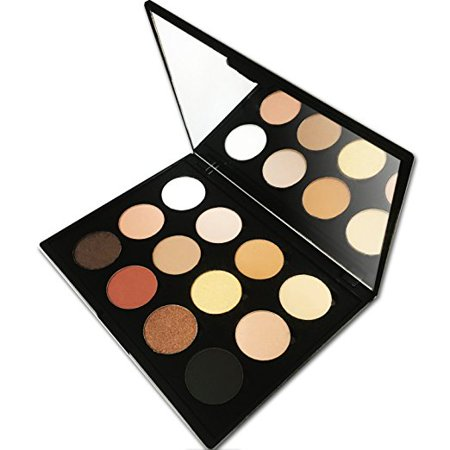 12 Color Makeup Eyeshadow Palette, Nude Natural Colors by Beauty Bon (Nude Makeup Kit)