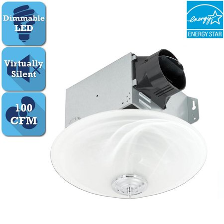 Delta Breez Greenbuilder Series 100 CFM Ceiling Exhaust Fan with LED Light