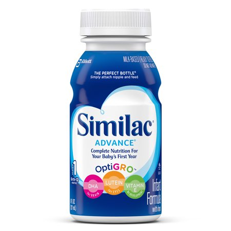 Similac Advance Infant Formula With Iron  Ready To Feed  8 Fl Oz  Pack Of 6