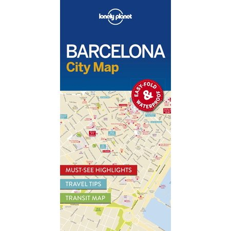Travel guide: lonely planet barcelona city map - folded map: 9781786574107 (Barcelona Brands)