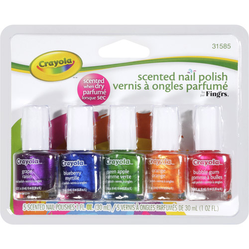 Fing'rs Crayola Scented Nail Polish, 0.20 fl oz, 5 count