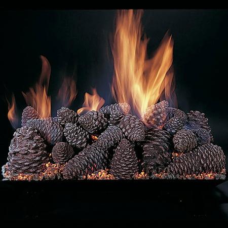 Rasmussen Pine Cones Fireplace Set w/ 18