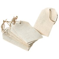 Cotton Canvas Hand Tags, 4-3/4-inch, 12-Piece