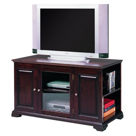 Espresso TV Stand with Cabinet, for TVs up to 48""