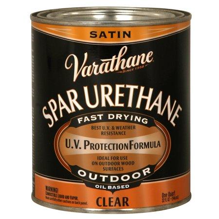 Varathane  242183H 1 Quart Crystal Clear Spar Urethane Exterior Oil Based - Satin Oil