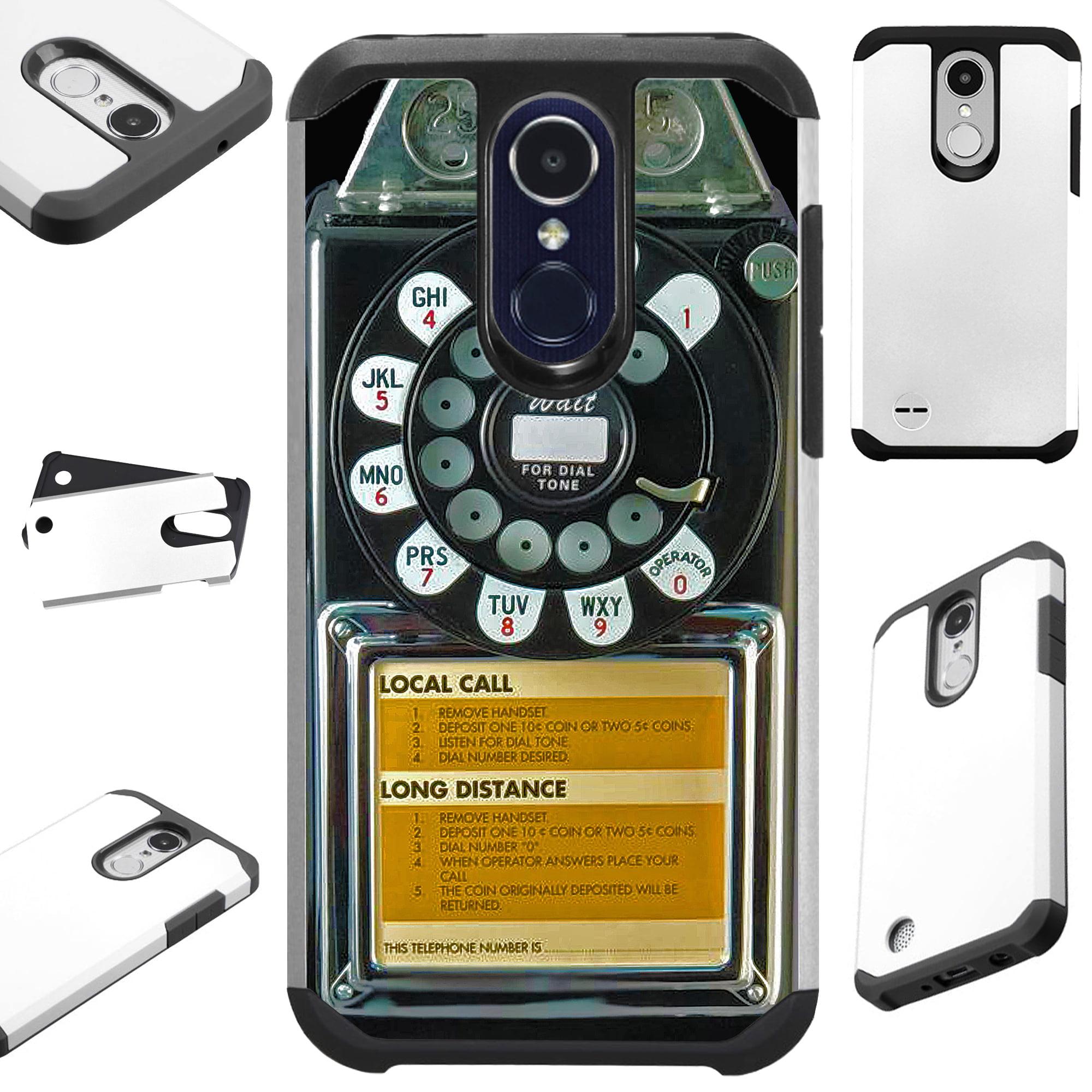FusionGuard Phone Case Cover For LG K30 X410   K10 (2018)   K10 Plus   K10  Alpha (Black Payphone)