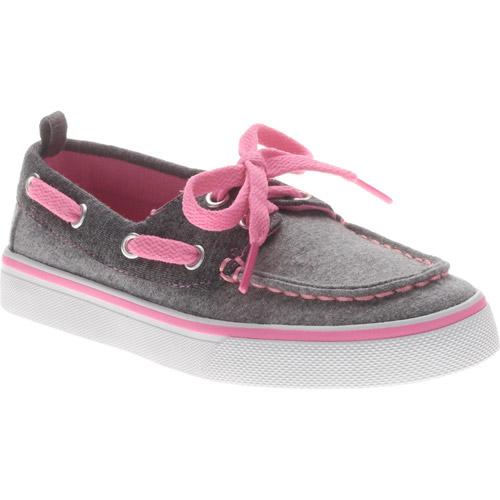 Faded Glory Girls' Jersey Boat Shoe