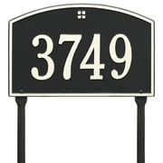 Personalized Whitehall Products Cape Charles 1-Line Standard Lawn Plaque in Black/White