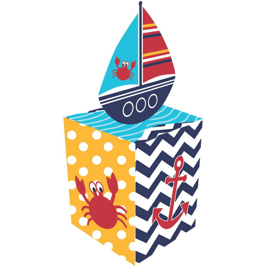 Image of Ahoy Matey! Favor Boxes, 8-Pack