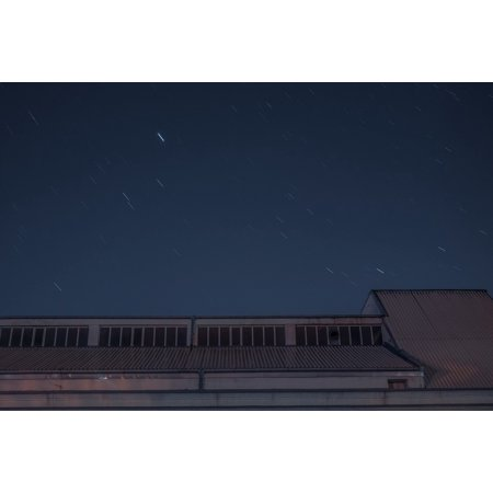 Peel-n-Stick Poster of Stars Night Sky Evening Roof Industrial Warehouse Poster 24x16 Adhesive Decal