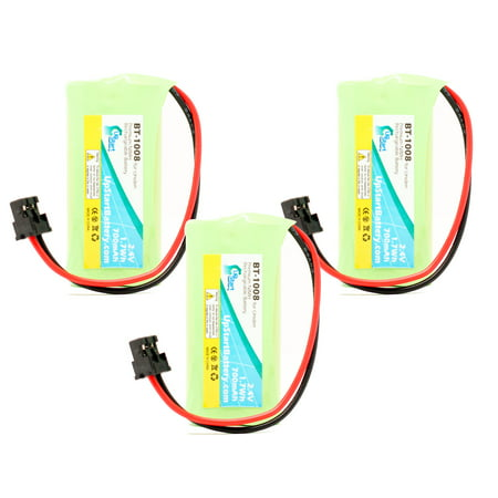 3x Pack - Uniden D1760-3 Battery - Replacement for Uniden Cordless Phone Battery (700mAh, 2.4V, NI-MH) - image 4 of 4