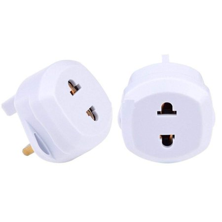 Christmas Clearance Portable Plug Outlet Converter Adapter Universal Mini Size Travel EU to UK Power Socket Adapter for $<!---->