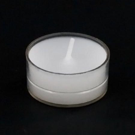 White Unscented Tealight Candles In Clear Cups Burn Time 5 Hour Set Of 50