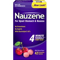 3 Pack - Nauzene Chewables Wild Cherry Flavor 42 Tablets