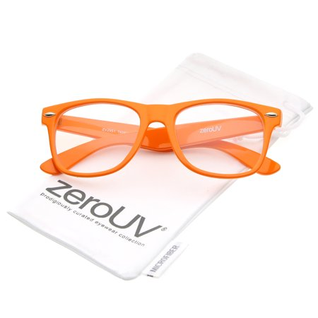 zeroUV - Retro Wide Temple Clear Lens Horn Rimmed Eyeglasses 54mm -