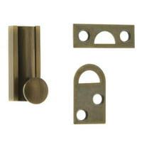 Solid Brass Surface Bolt, Antique Brass - 1.5 in.
