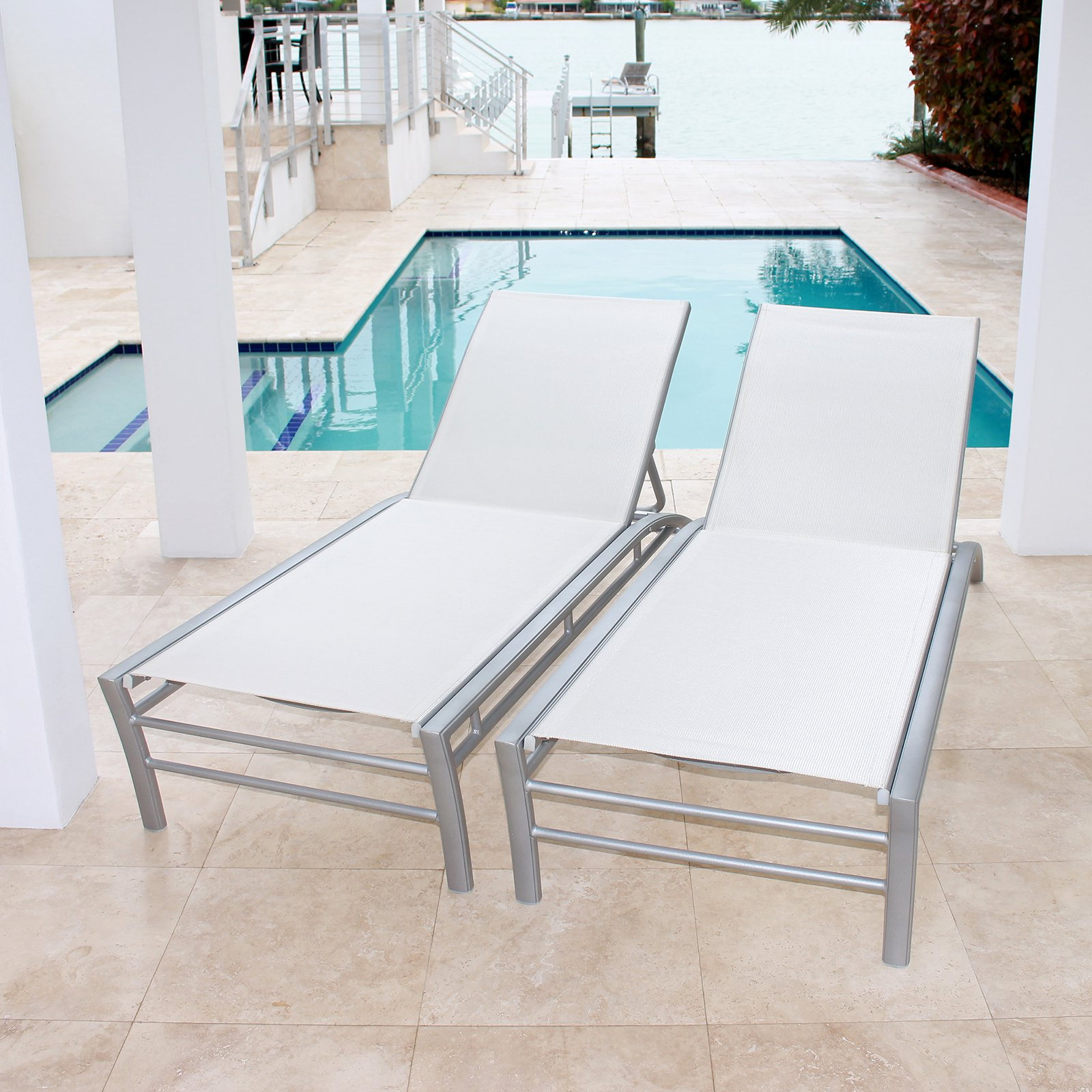 Infinita Pure Outdoor Chaise Lounge - Set of 2