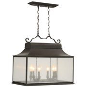Revere 6 Light Large Outdoor Island Fixture in Flemish Finish