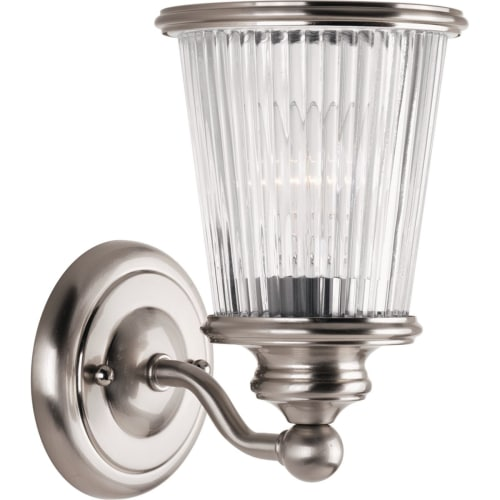 "Progress Lighting P2169 Radiance 9"" Tall Single Light Bathroom Sconce with Ribbed Glass Shade"