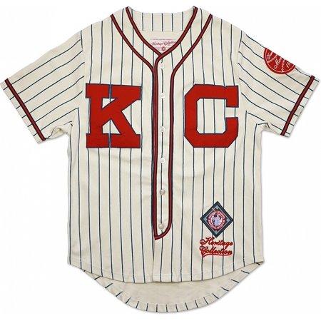 Halloween Store Jersey City (Big Boy Kansas City Monarchs NLBM Heritage Mens Baseball Jersey [Ivory White -)