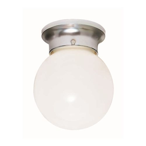 "Nuvo Lighting 77/111 Single Light 8"" Flush Mount Ceiling Fixture with White Ball"
