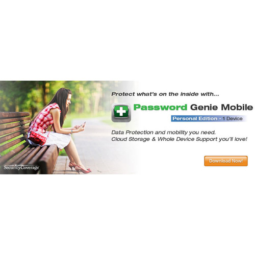 SecurityCoverage Inc. Password Genie Mobile, Personal (iOS, Android) (Digital Code)