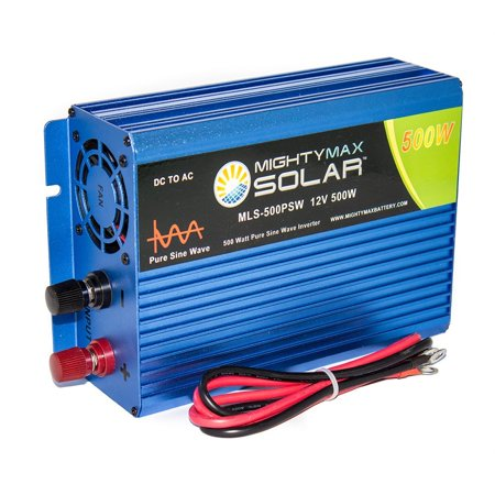 Mighty Max Battery 12V 500 watt pure sine wave inverter for solar application brand - Smart Application Sine Wave