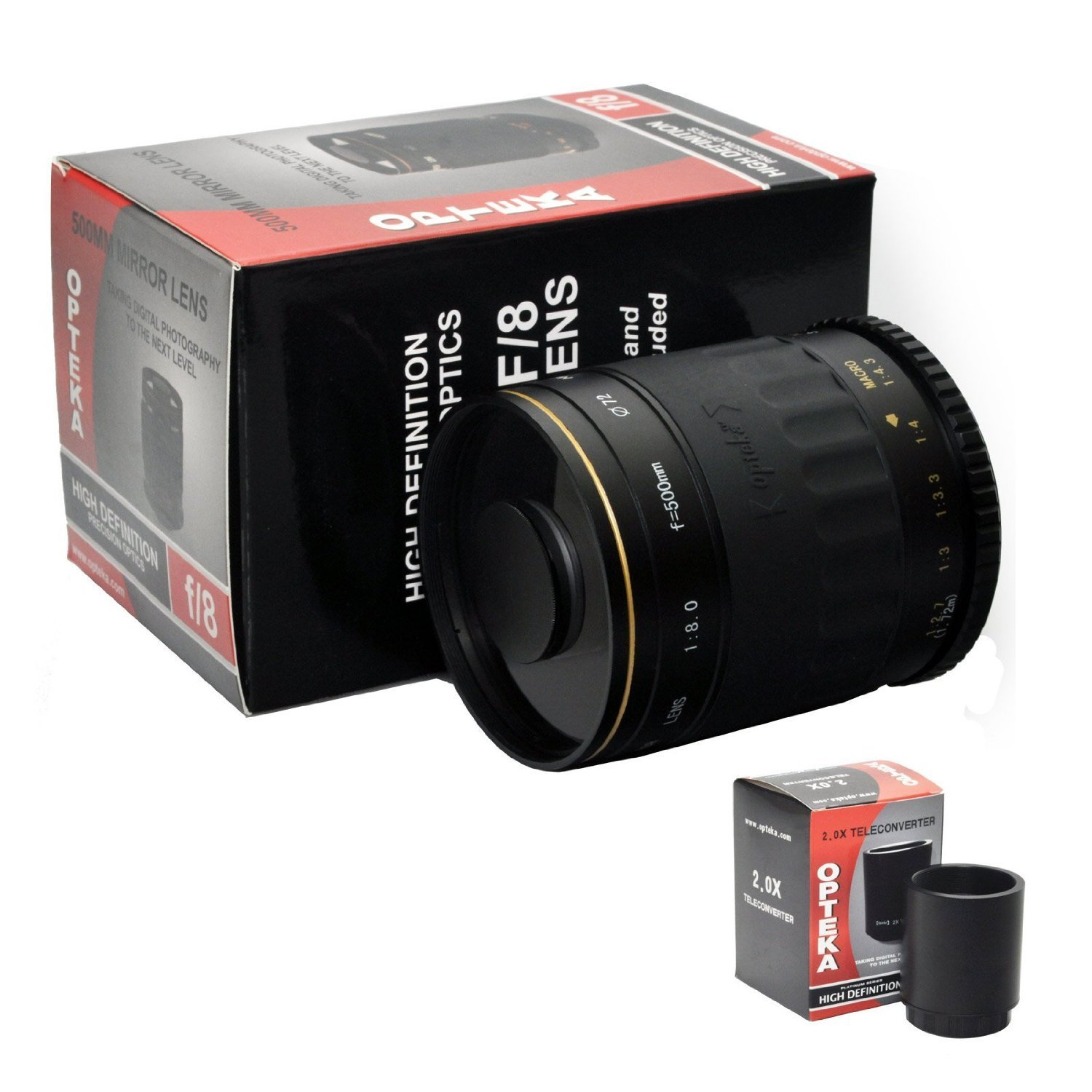 Opteka 500-1000mm f/8 High Definition Telephoto Mirror Le...