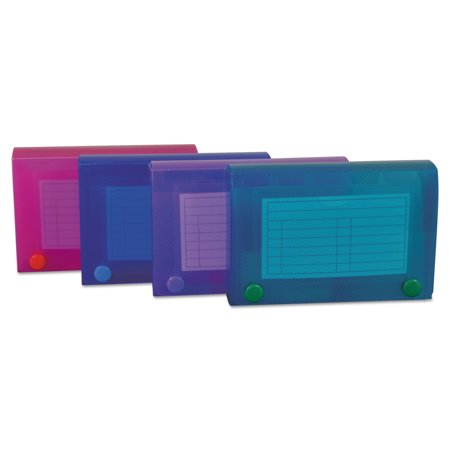 Index Card Case, Holds 100 3 x 5 Cards, Polypropylene, Assorted Colors](Index Card Storage)