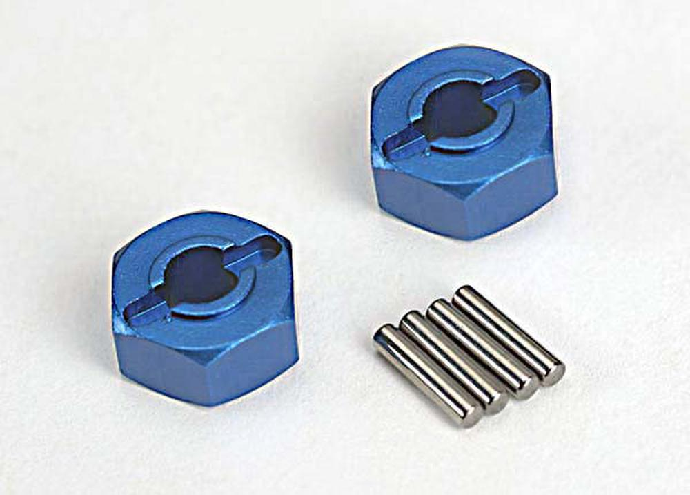 Hobby Rc Traxxas Tra1654X Hex Hubs Blue Alum (2) Slash Replacement Parts by TRAXXAS