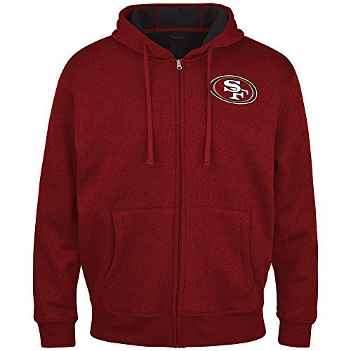 NFL San Francisco 49ers Primary Receiver Fleece Jacket Hoody (X-Large) by
