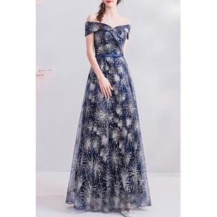 Women Off Shoulder Silk Ribbon Stylish Wedding Dress ()