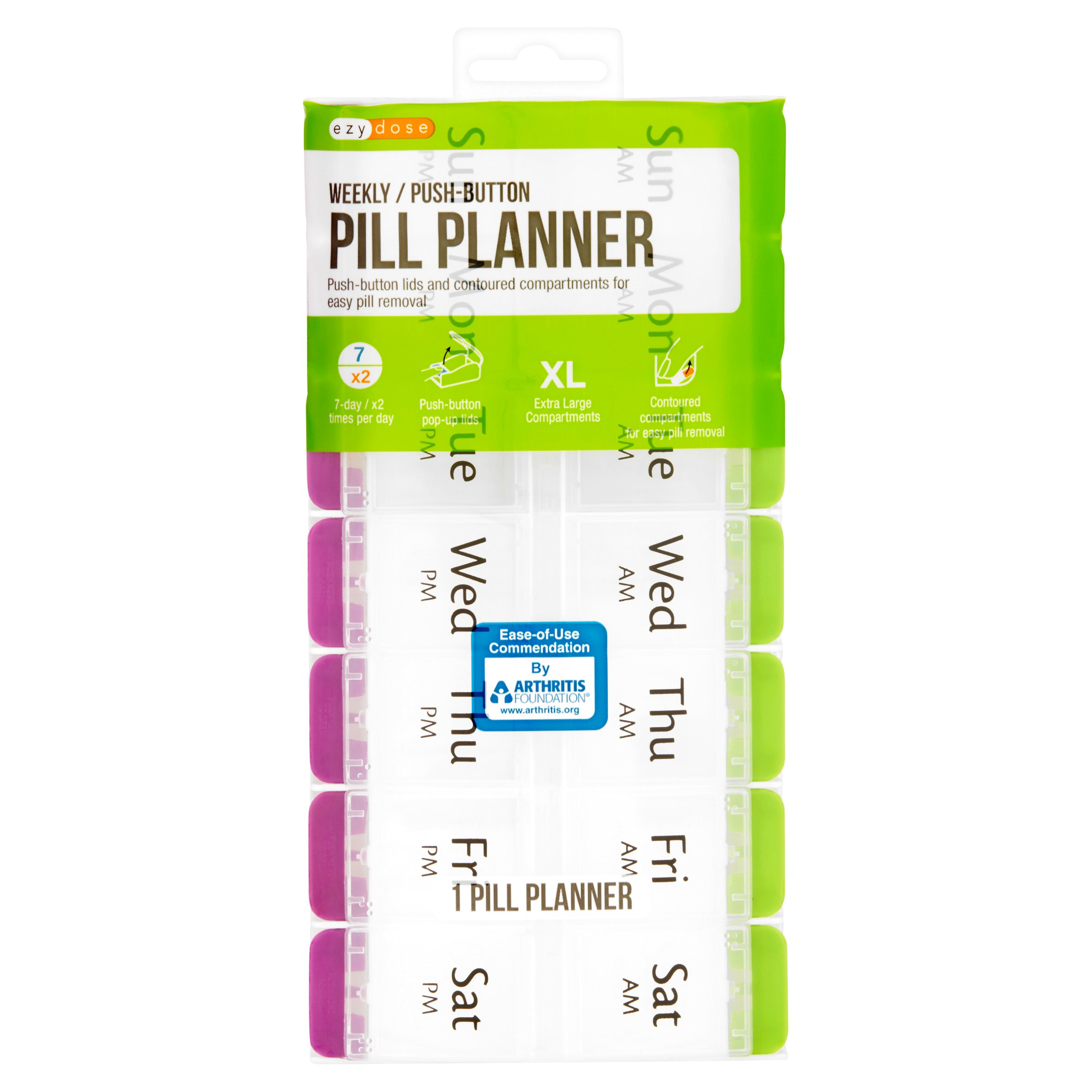Ezy Dose Weekly Push Button Pill Planner