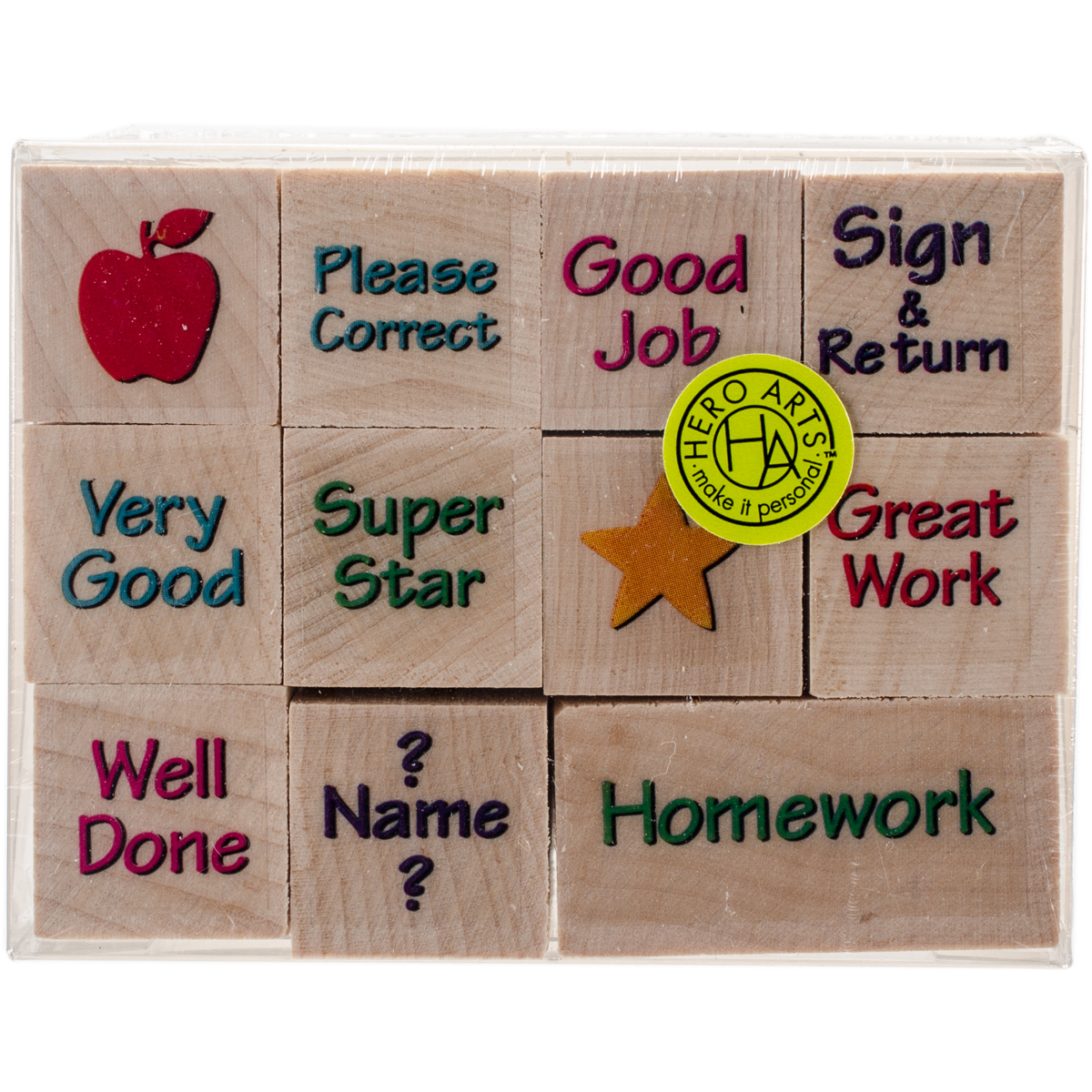 """Hero Arts Mounted Rubber Stamp Set 2""""x1.375"""" - Nearly Tiny Messages From You"""